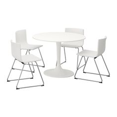 IKEA - DOCKSTA / BERNHARD, Table and 4 chairs, A round table with soft edges gives a relaxed impression in a room.