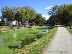 The Illinois and Michigan Canal State Trail at William G. Stratton State Park in Morris.