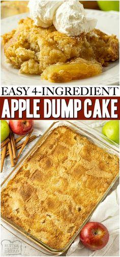 Apple Dump Cakes, Dump Cake Recipes, Easy Pie Recipes, Apple Dessert Recipes, Apple Crisp Recipes, Cooking Recipes, Apple Pie Cake, Easy Apple Desserts, Baked Apple Dessert