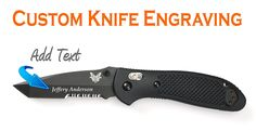 Custom Laser Engraved Benchmade Griptilian Tanto Combo Edge