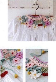 """Воротничок """"Цветочная поляна"""" - Вязание крючком для начинающих"""