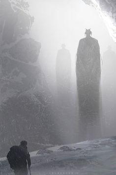 """ Contact – fantasy concept by col price "" Fantasy Kunst, Dark Fantasy Art, Sci Fi Fantasy, Fantasy Artwork, Fantasy World, Dark Artwork, High Fantasy, Arte Horror, Horror Art"