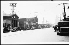 Southward view of Broadway from between Alpine Street and High Street, August 8, 1931 :: California Historical Society Collection, 1860-1960