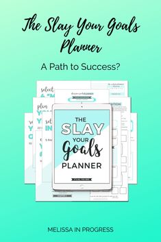 Slay Your Goals Planner: A Path Towards Success? - Melissa in Progress Soul Searching, Goals Planner, Life Plan, Achieve Your Goals, Setting Goals, Slay, Worksheets, Bar Chart, Success