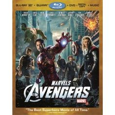 The Avengers 3D Blu-ray/DVD 4-Disc Combo for $24.96