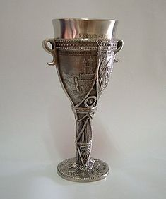 Pewter Goblet  Beautiful Adornment. A pewter goblet is also called a pewter chalice.