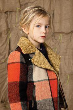 Blouson perfecto lainage à carreaux [Bellerose kids]