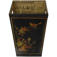 Oriental Furniture Wood Waste Basket & Reviews | Wayfair