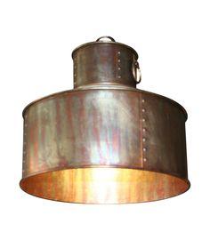 Industrial Copper Pendan Light on Chairish.com