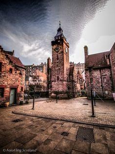 Dean Village, Edinburgh. Quaint corner, few minutes off the new town's buildings.