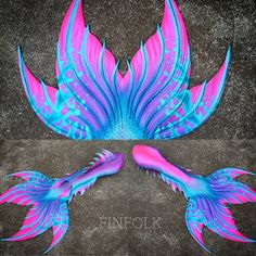 pink, teal and blue silicone mermaid tail by Finfolk Finfolk Mermaid Tails, Siren Mermaid, Mermaid Cove, Pink Mermaid Tail, Tattoo Mermaid, Real Life Mermaids, Unicorns And Mermaids, Mermaids And Mermen, Mermaids Exist