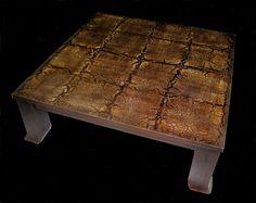 Δημιουργία μου σε ξύλο-βαφή απομίμησης δέρματος. Table, Furniture, Home Decor, Decoration Home, Room Decor, Tables, Home Furnishings, Home Interior Design, Desk