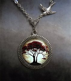 Hey, I found this really awesome Etsy listing at http://www.etsy.com/listing/120153080/moonlight-oak-and-bird-necklace-moon