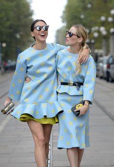 polka dot twins. #MFW