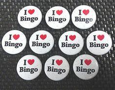I love Bingo - 10 Bingo Pins