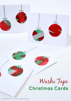 Washi Tape Christmas Cards: these are fun and easy handmade cards to make together as a family.