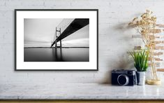 """Coastal Photography: """"Dames Point Bridge"""" Professional archival photographic PRINT ONLY of the Dames Point Bridge in Jacksonville, Florida. The Dames Point Bridge is a super cool bridge in Jacksonville -- perfect for a long exposure. Cramping as I crouched on some rocks waiting for the light to fade and large boat wakes to pass, this is a 120-second exposure. Visit my full shop: JHKPhotographyStudio.etsy.com Modern Art Prints, Wall Art Prints, Poster Prints, Kids Room Wall Art, Nursery Wall Art, Lego Pictures, Jacksonville Florida, Amazing Sunsets, Nature Prints"""