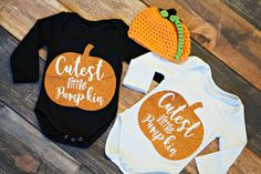Cutest little pumpkin onesies! 50% off retail this week only!