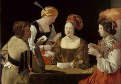 Le Tricheur à l'as de carreau est un tableau peint par Georges de La Tour vers 1636-16381, Georges de La Tour (March 13, 1593 – January 30, 1652)
