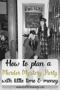 Family halloween ideas with baby How to plan a murder mystery party with little time and money! Fun for the whole family! Mafia Party, Murder Mystery Games, Murder Mysteries, Mystery Dinner Party, Dinner Parties, Gatsby Party, 30th Party, A Little Party, Party Entertainment