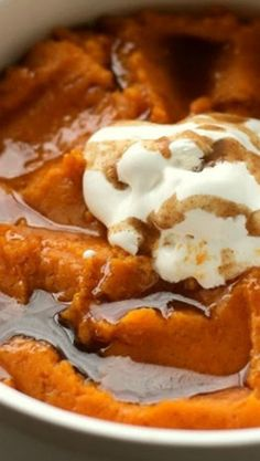 Mashed Sweet Potatoes with Cinnamon Maple Butter