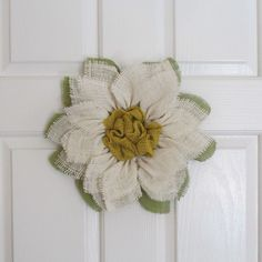 Just sold another! #SpringHasSprung! Get your #Spring #Burlap #Sunflower #Wreath today! Also on thecraftywineaux.com!
