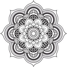 black and white mandala - Google Search