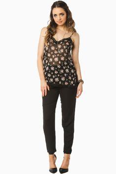 Harrington Trousers / ShopSosie #black #pleated #slouchy #trouser #pants #shopsosie