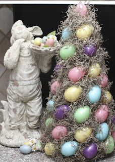 Another Easter Egg Topiary Tutorial. Step into the wonderous easter land with this easter egg tree. For all decoration pins, please visit: https://www.pinterest.com/EasterTutorials/easter-decorations-tutorials-group-board/