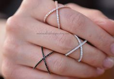 Sterling Silber, Criss Cross Ring, X Cross Ring, Ring überqueren, dünne CZ Ring, stapelbar Ring, Micro Pave Ring, Knuckle Ring, Stacking ring