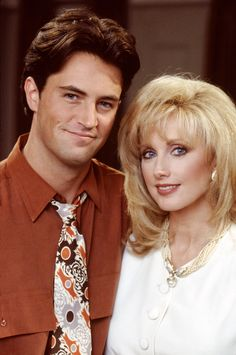 """FRIENDS -- """"The One With Mrs. Bing"""" Episode 11 -- Pictured: Matthew Perry as Chandler Bing, Morgan Fairchild as Nora Tyler Bing Get premium, high resolution news photos at Getty Images Friends Tv Show, Tv: Friends, Friends Season 1, Serie Friends, Friends Cast, Friends Moments, Friends Forever, Chandler Friends, Phoebe Buffay"""