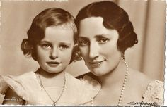 Mother and daughter.  Crown Princess Martha of Norway with her look alike daughter, Princess Ragnhild.  Sweet portrait!