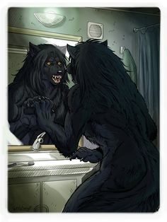 """This was the only Illustration that I did last year for for the second book in his series """"The Lycanthrope Club"""" of which you can find more info about h. Night Time - The Lycanthrope C Book 2 Illustration Anime Neko, Gato Anime, Werewolf Stories, Werewolf Art, Female Werewolves, Vampires And Werewolves, Arte Furry, Furry Art, Fantasy Creatures"""