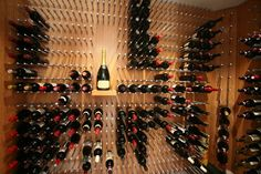 wine wall series in bamboo - contemporary - wine cellar - vancouver - Vin de Garde Wine Cellars Inc