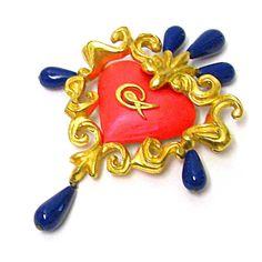 CHRISTIAN LACROIX, superb vintage heart-shaped brooch de la boutique PauletteVintage sur Etsy