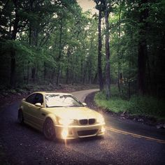BMW E46 M3 on a back road