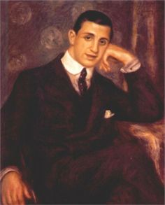 Portrait of Henry Bernstein by Pierre-Auguste Renoir (French 1841-1919) ......Henry Bernstein,  (1876-1953) was a French playwright, initially popular for a series of sensational melodramas, who later turned to more serious themes, experimented with new forms, and campaigned against anti-Semitism and Nazism......