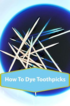 How to color toothpicks that impress party guests! Fun Crafts, Diy And Crafts, Crafts For Kids, Toothpick Crafts, How To Make Something, Party Guests, Homemade Gifts, Craft Projects, Color