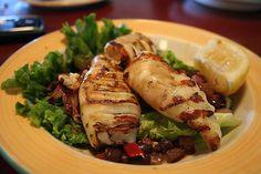 Grilled Feta Stuffed Squid