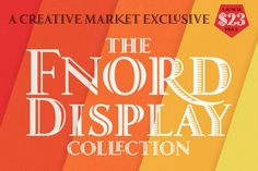 Fnord Display Collection by Paulo Goode on @creativemarket