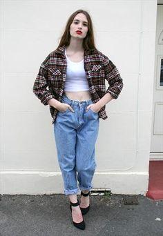 90s Vintage Tartan Flannel Shirt
