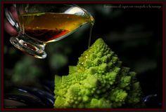 Romanescu al vapor con vinagreta de naranja