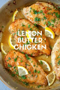 Lemon Butter Chicken - #butter #chicken #lemon - #GochujangRecipe Chicken Pasole, Tandori Chicken, Drunken Chicken, Chicken Paprikash, Gochujang Chicken, Gochujang Recipe, Tarragon Chicken, Lemon Butter Chicken, Amazing