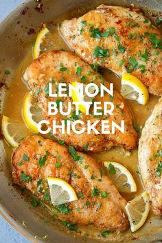 Lemon Butter Chicken - #butter #chicken #lemon - #GochujangRecipe Chicken Pasole, Tandori Chicken, Drunken Chicken, Chicken Paprikash, Gochujang Chicken, Gochujang Recipe, Tarragon Chicken, Lemon Butter Chicken, Amazing