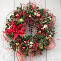 Gorgeous CHRISTMAS WREATH by EverythingFloral