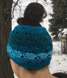 The Messy Bun Hats are sweeping across all social media feeds and can be seen everywhere. Here are 2 free patterns for you to enjoy for crocheted versions using 2 different Mary Maxim yarns.  Hop on this trend by making your own Messy Bun Hat in no time! Shell Stitch Messy Bun Hat Yarn: …
