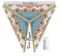 NooN beaded jewellery: triangle patterns