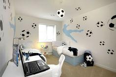 Fußball Zimmer Design-Ideen jugendzimmer
