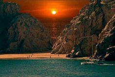 Sunset at Cabo San Lucas Beach, Mexico. http://twitter.com/Globe_Pics/status/344771171398586368/photo/1