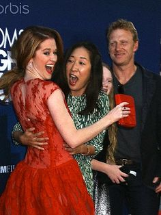 Grey's Anatomy cast at the premiere of Mom's Night Out to support Sarah Drew